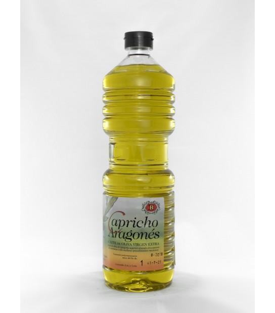 1 caja 16 botellas litro de aceite de oliva virgen extra Capricho Aragonés