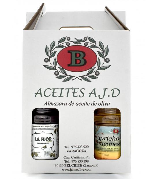 Pack 3 botellas plástico litro aceite oliva virgen extra
