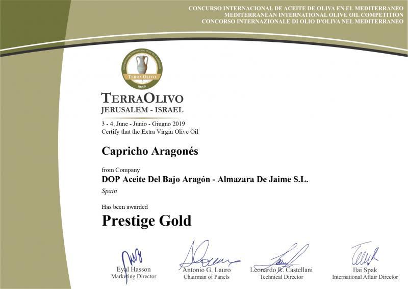 Prestige Gold Terrativo 2019
